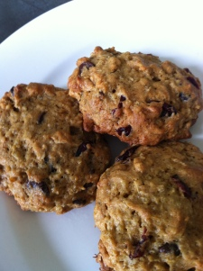 Gluten and dairy free cakey breakfast style cookies, reminiscent of hot bowl of cereal but portable!