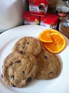 Gluten & Dairy Free Spiced Orange Chocolate Chip Cookies